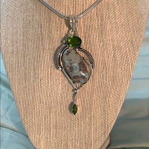 Larimar stone pendant.